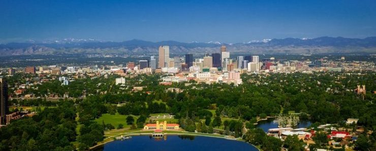 local movers CO will move you, and you can enjoy buildings, lake and nature of Colorado