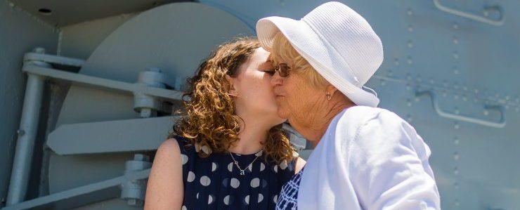 senior moving services Denver - girl kissing her grandma