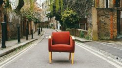-old chair in the street