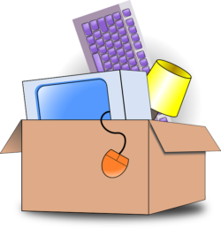 -illustration of a box with electronics