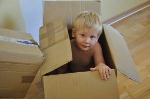 Kids can help you organize and pack your things.
