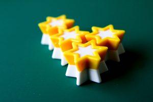 Plastic rating stars