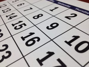 calendar representing time you will need to spend if you want to compare local movers in Denver