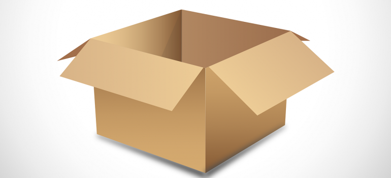 Use durable moving boxes to pack items.