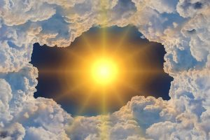 a sun and the clouds