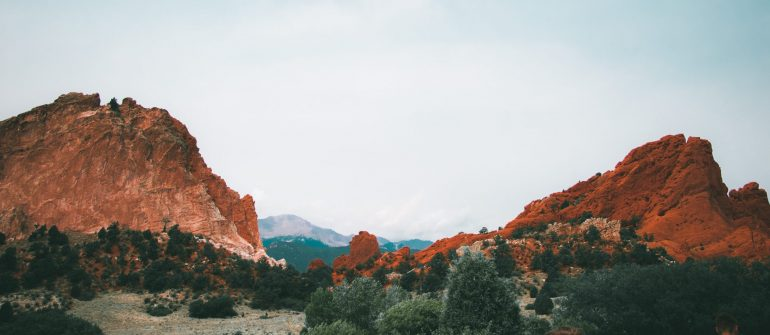 Colorado Springs mountain range