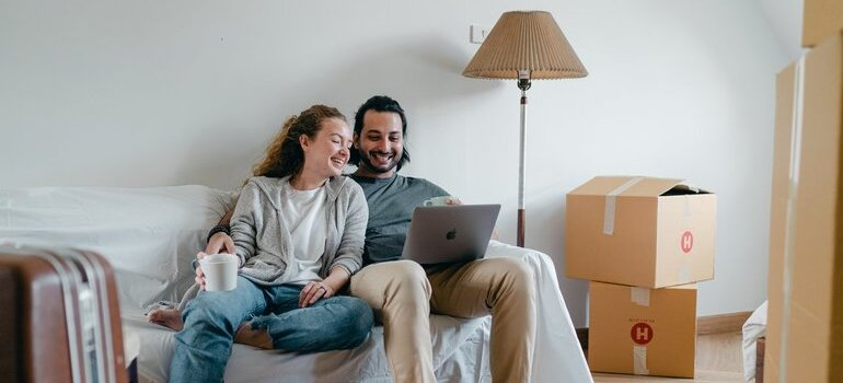A couple after their Boulder CO movers have left