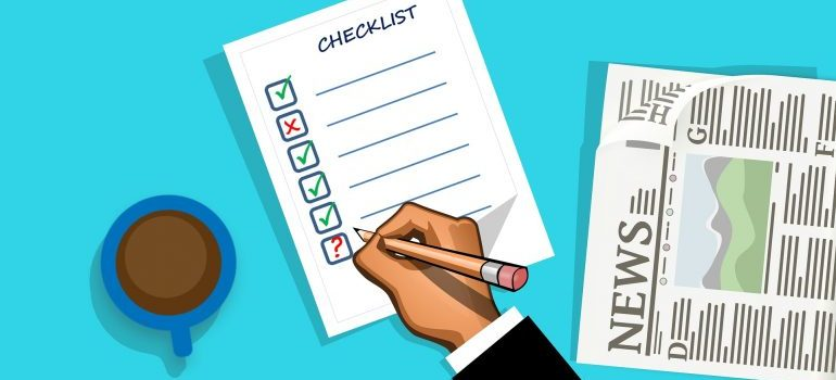 Illustration of a hand creating a checklist