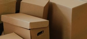 Brown not color coded cardboard boxes