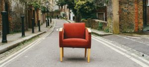 Chair on a road