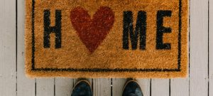 decorate your luxury apartment after a move with a new doormat