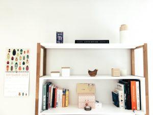 items on shelves