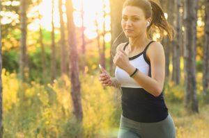 a girl jogging