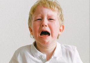 a child crying first week after moving